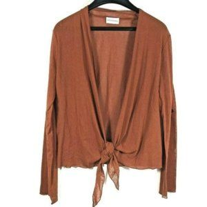 Soft Surroundings Sheer Tie Front Cardigan Long Sl